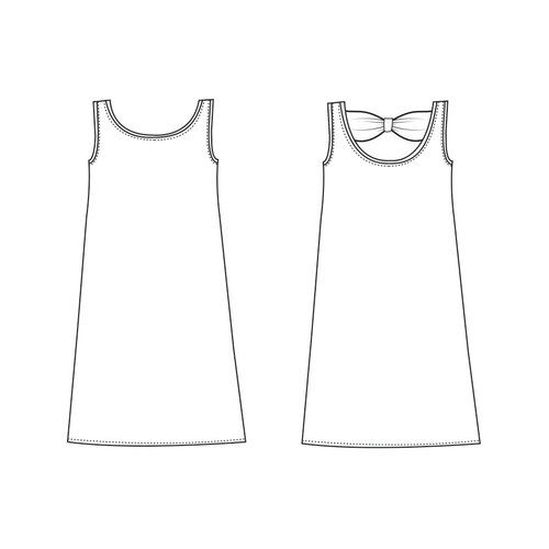 "Download P1076 Dress ""Tess"""