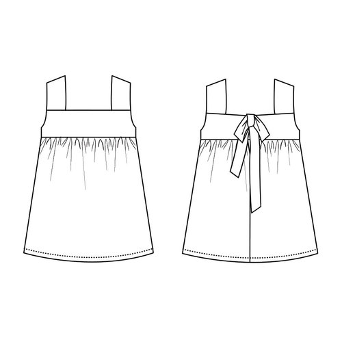 "Download P1082 Dress ""Rosalin"""