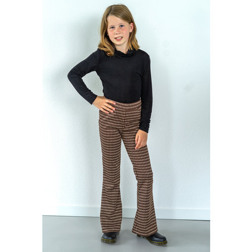 "Miss Doodle Kit 80-176 Naaiset P1085 Broek ""Brown Blocks"" + gratis magazine"