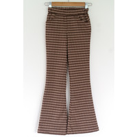 "Naaiset P1085 Broek ""Brown Blocks"" + gratis magazine"