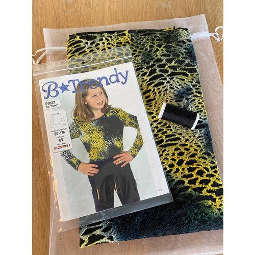 """Miss Doodle Kit 80-176 Kit de couture P1087 Top """"Yellow Fantasy"""" + magazine gratuit"""