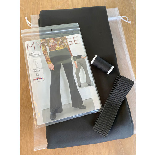 "Miss Doodle Kit 34-52 Naaiset S1115 Broek ""Black"" + gratis magazine"