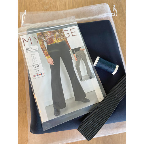 "Miss Doodle Kit 34-52 Sewing kit S1115 Trousers ""Blue"" + free magazine"