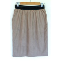 "Sewing kit S1102 Skirt ""Beige Napa"" + free magazine"
