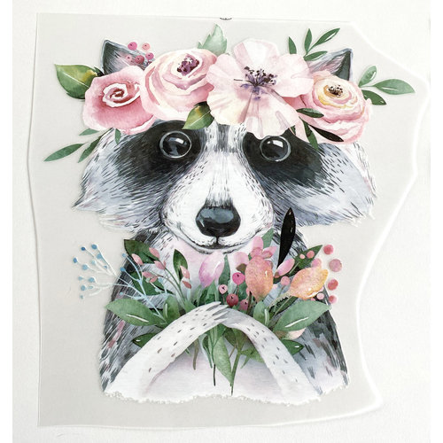 Iron-on patch Racoon