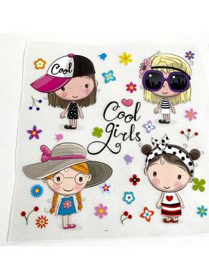 Strijkapplicatie Cool Girls
