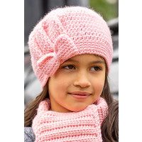 Kit de crochet C1007 Bonnet Maya Rose + magazine gratuit