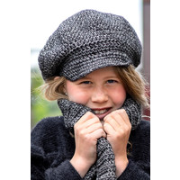 Crochet kit C1009 Cap Sienna Black + free magazine