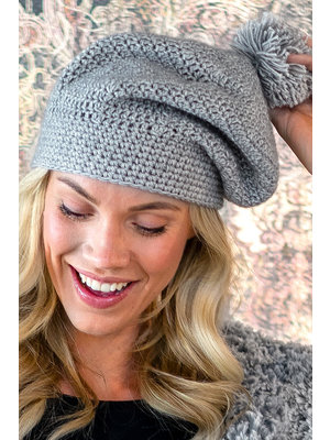 Miss Doodle Kit Crochet kit C1004 Hat Betsy Grey + free magazine