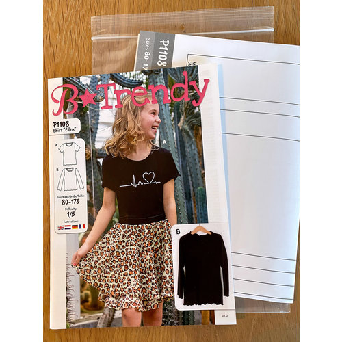 "Miss Doodle Kit 80-176 Naaiset P1108 Shirt ""Wit"" + gratis magazine"