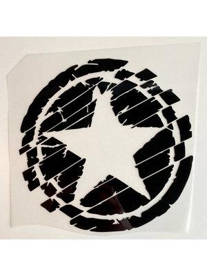 Iron-on patch Big Star Black