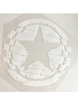 Bügelapplikation Big Star White