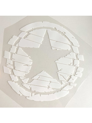 Strijkapplicatie Big Star White