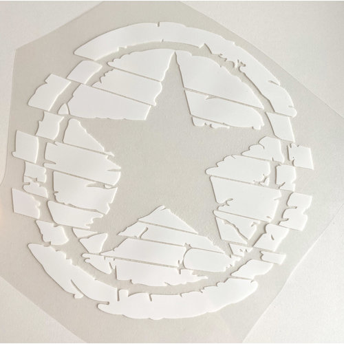 Iron-on patch Big Star White