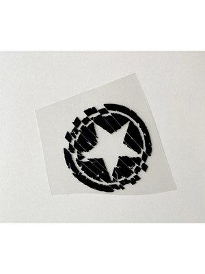 Bügelapplikation Small Star Black