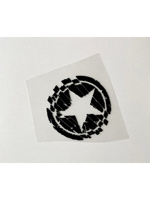 Strijkapplicatie Small Star Black