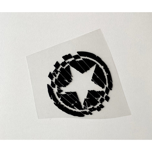 Iron-on patch Small Star Black