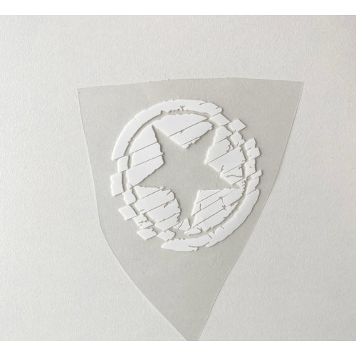 Iron-on patch Small Star White