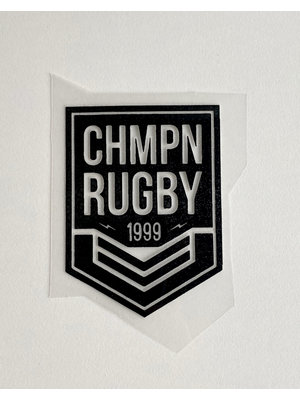 Iron-on patch Rugby Black