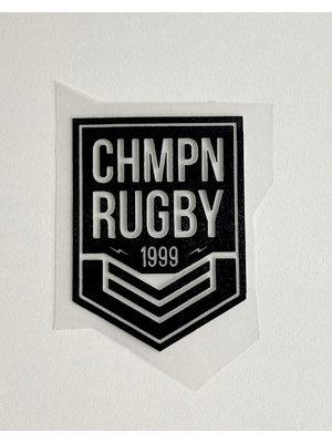 Strijkapplicatie Rugby Black
