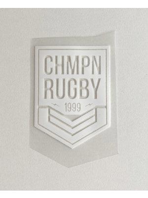 Bügelapplikation Rugby White