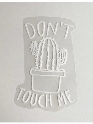 Bügelapplikation Cactus White