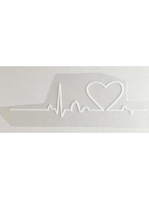 Bügelapplikation Heartbeat White