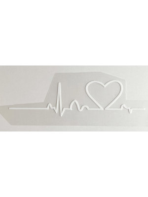 Iron-on patch Heartbeat White
