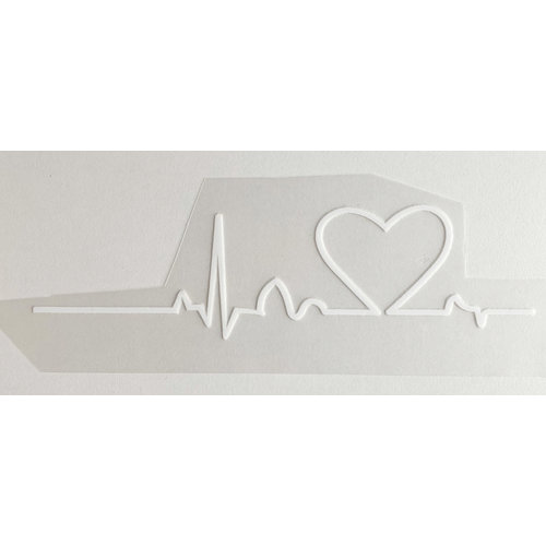 Strijkapplicatie Heartbeat White