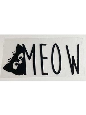 Strijkapplicatie Meow Black