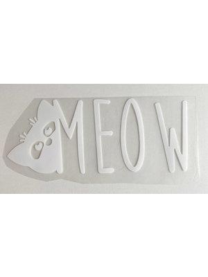 Bügelapplikation Meow White