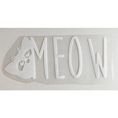 Strijkapplicatie Meow White