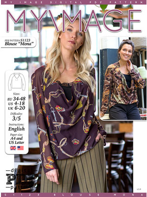 "Download S1123 Blouse ""Mona"""