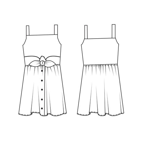 "Download P1097 Dress ""Adeline"""