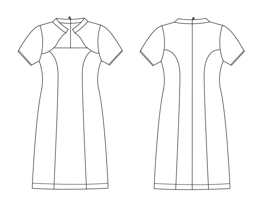 """S1015 Kleid """"Rachelle"""""""