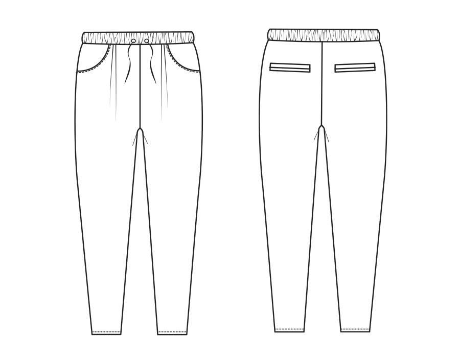 """S1025 Pantalon """"Ann"""""""