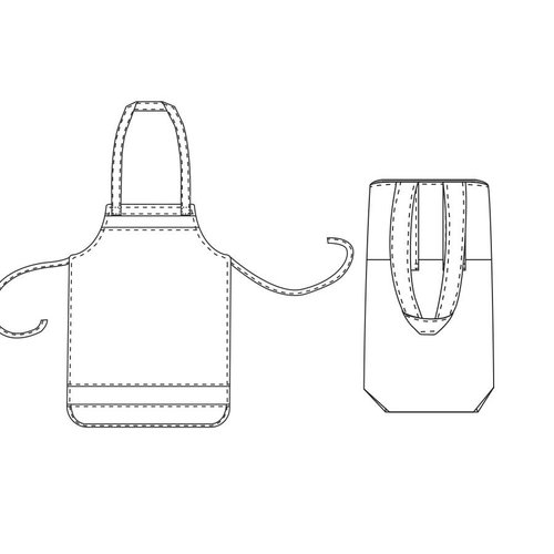 "Download P1010 Apron & Bag ""Dani"""