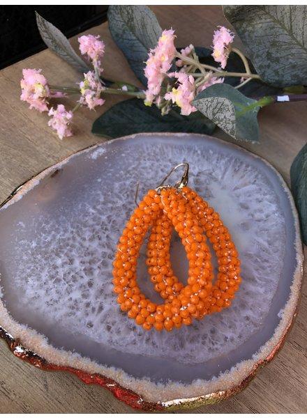 Oorbellen druppel Oranje