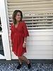 Kanten jurk kort rood