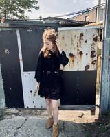 Ikki kanten jurk zwart