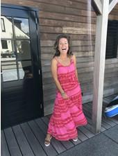Aztec jurk roze