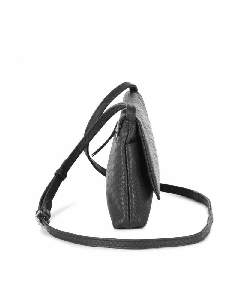 markberg carla crossbody shoulder bag python