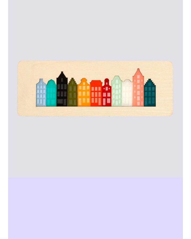 cre8 grachten puzzel - wand decoratie