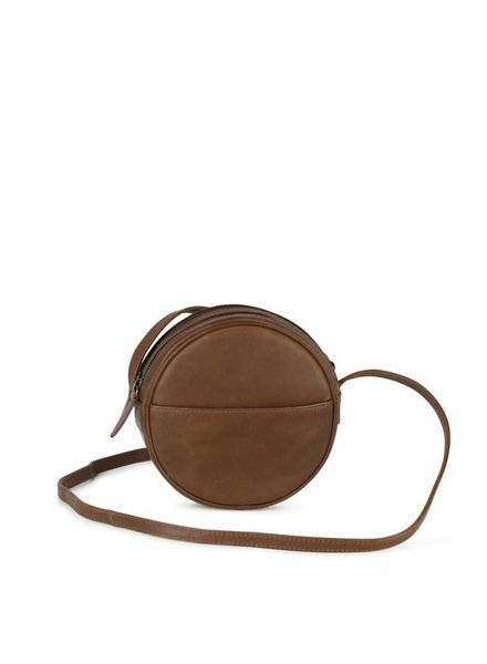 markberg anine crossbody handbag chestnut brown