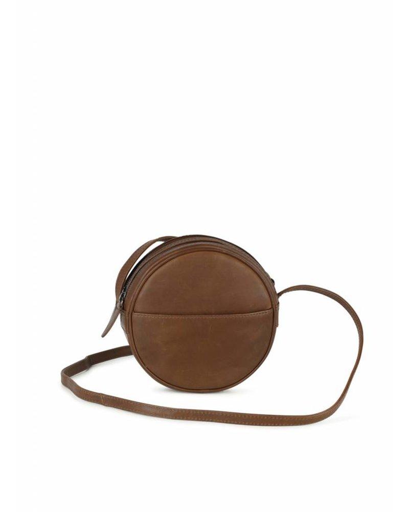 markberg anine crossbody handbag chestnut brown