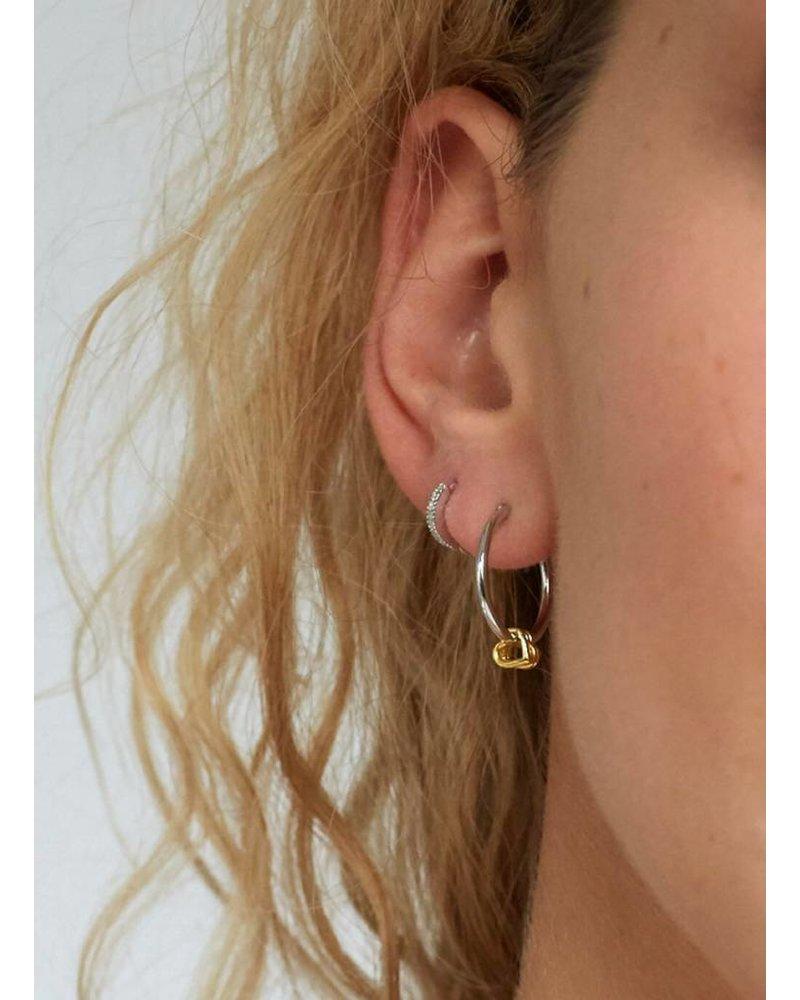 ivy & liv hoop heart earrings
