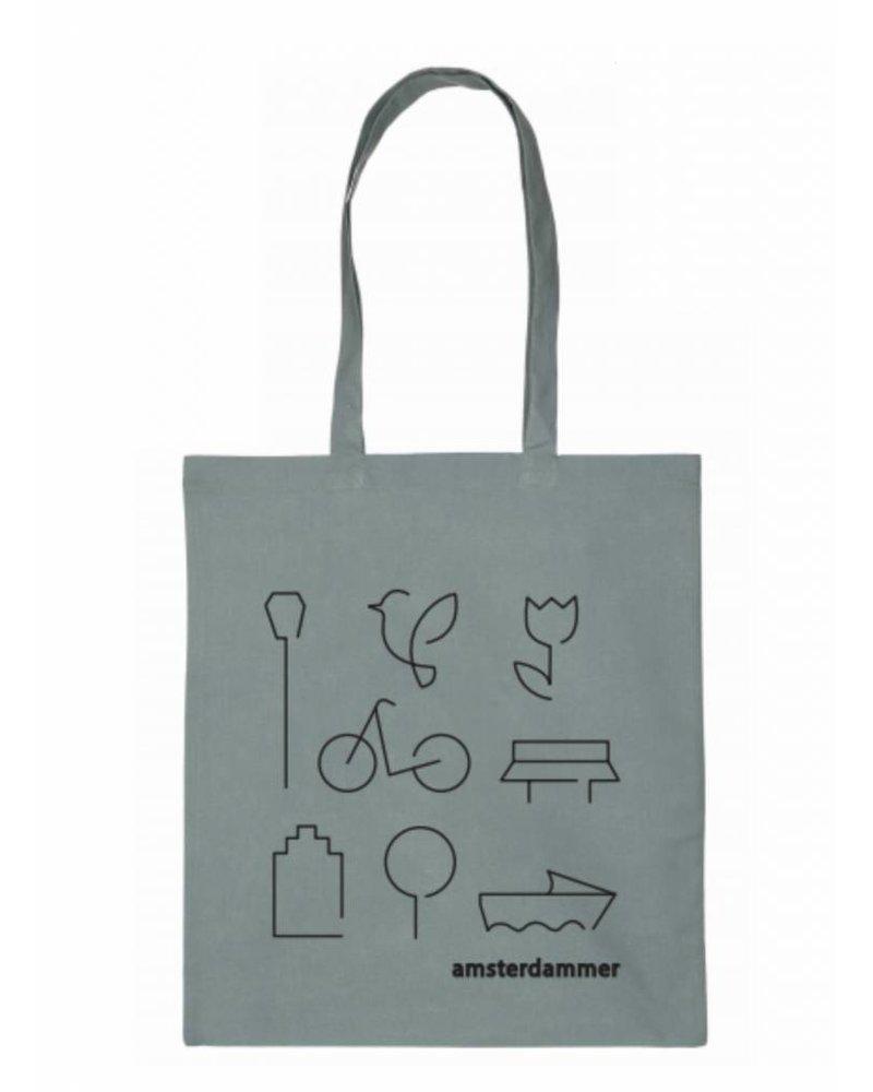 robins hood amsterdammer shopper bag grey