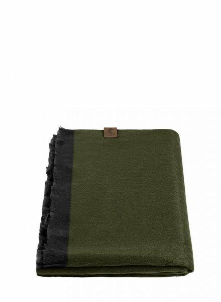 alpacaloca moss green shawl alpaca
