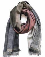 karigar warm red mix shawl