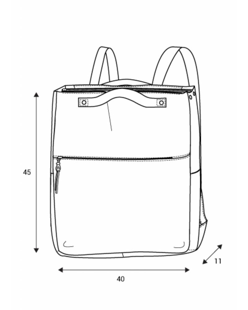 monsak brave backpack grey